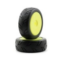 Losi 1/8 8IGHTH Street On-road Tire Mntd,Yellow Wheel