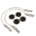 Body Protect Sponge Pad (BK) with wire 175mm & clip set for all 1:8 cars