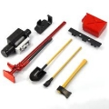 Yeah Racing Accessoris Tool Set Axes Digging Shovel Oil Tank Jack Winch